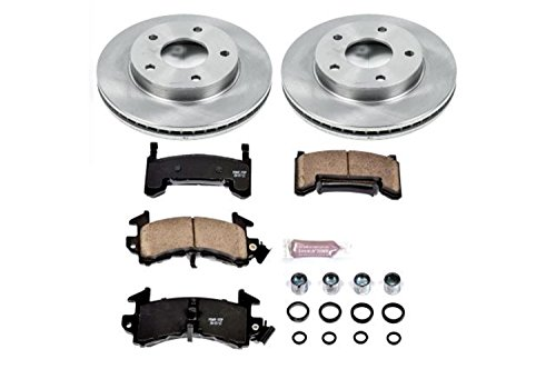 Power Stop KOE3003 Autospecialty By Power Stop 1-Click Daily Driver Brake Kits Front Incl. 10.51 in. OE Replacement Rotors w/Z16 Ceramic Scorched Brake Pads Autospecialty By Power Stop 1-Click Daily Driver Brake Kits