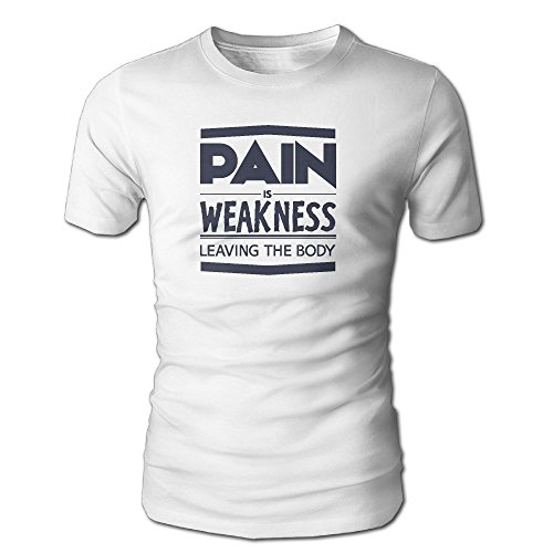 DecorMyGarden Pain Is Weakness Leaving Body Fashionable Graphic Shirts For Men For him