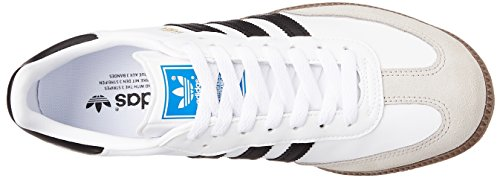 adidas Originals Herren Samba Sneakers Weiß (White/Black 1/Gum5)