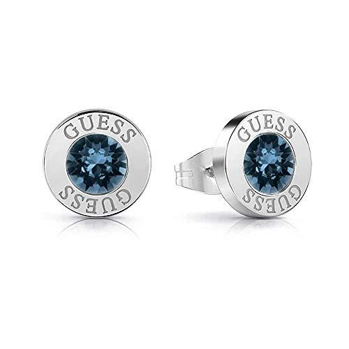 Pendientes Guess Shiny Crystals azul acero inoxidable quirúrgico chapados rodio UBE78091 [AC1146] a buen precio