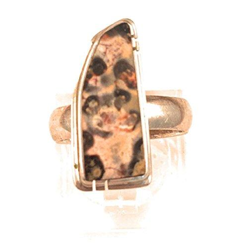 Vintage Navajo Jasper And Sterling Silver Adjustable Ring - Adjustable Silver Ring Sterling Jasper