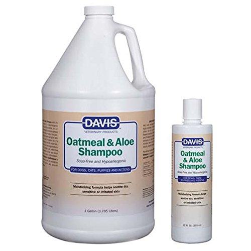 Davis Hypoallergenic Shampoo - Davis Oatmeal and Aloe Dog and Cat Shampoo, 1-Gallon