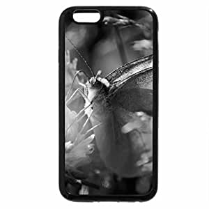 iPhone 6S Case, iPhone 6 Case (Black & White) - Butterfly Light