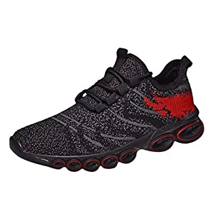 MTENG Men's Breathable Mesh Non-Slip Outdoor Shoes Sneakers Wild Casual Running Shoes (39-44)