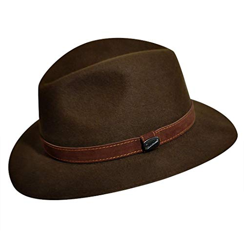 Borsalino Casual Crusher Hat - The Marco-Brown-57 (Borsalino Fedora Hats For Men)