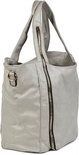 02012160 styleBREAKER Light White front shoulder bag Color hand with bag Blue hobo application on zip bag the ladies bag 6rqw61H