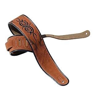 brothewiz guitar strap cow leather soft durable guitar strap adjustable cowhide. Black Bedroom Furniture Sets. Home Design Ideas
