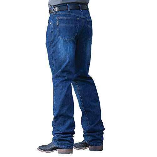 Cinch Men's Black Label Loose Fit Jean, Dark Stone Blast, 38W x (Black Label Men Jean)