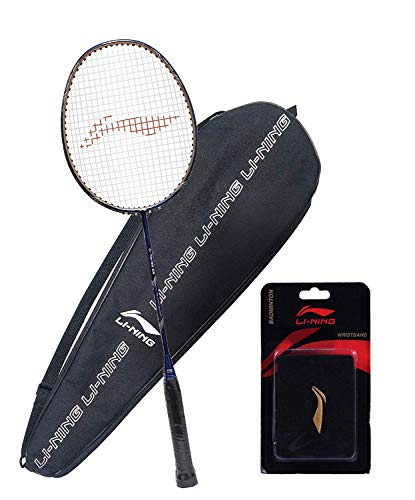Li Ning G TEK GX Strung Graphite Badminton Racquet with Free Cover and a Wrist Band