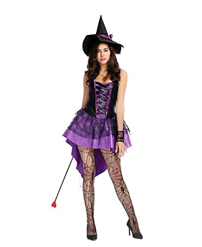8384d074ff4 Amazon.com: Bangyue Purple Witch Costume - Womens Sexy Halloween ...
