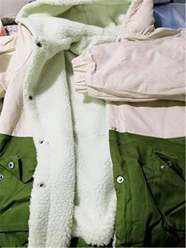 Baggy Giubbotto Donna Forti Autunno Donne Di Giaccone Cappotto Grün Casual Outwear Costume Elegante Fidanzato Huixin Corto Transizione Giacca Taglie q64dq