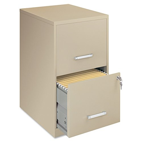 Lorell 14340 18 Deep 2-Drawer File Cabinet, Putty (2 Cabinets)