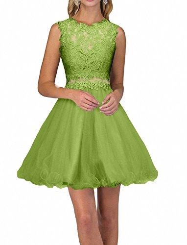 Olive Gruen Festlichkleider Kurzes Mini Abendkleider Spitze Cocktailkleider Promkleider Damen Neu Charmant Partykleider FvqWP67Pw