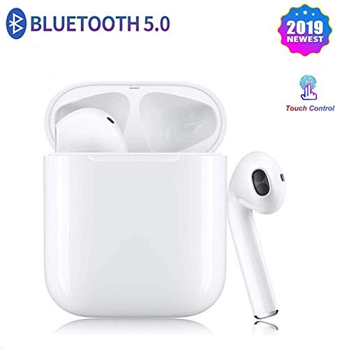 Bluetooth Headphones Wireless Earbuds 5.0 Noise Cancelling Sweatproof HD Stereo Earphones Built-in Microphone with Charging Case for,Apple/Android/PC/ios/Airpods/ipad/ iPhone 6 7 8 plus XR X/Samsung