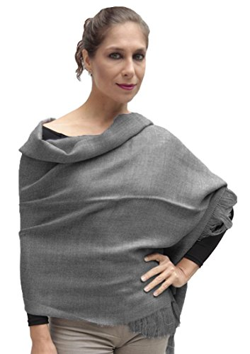 Women's Superfine Woven Baby Alpaca Wool Shawl Wrap