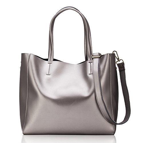 Women' s Casual Shoulder Bag Handbag Cross Body and Large Capacity Bag of Pearl Leather (Genuine Leather (Purse S)