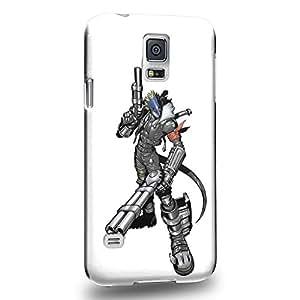 Case88 Premium Designs Digimon Adventure Beelzemon Beelzebub 0941 Protective Snap-on Hard Back Case Cover for Samsung Galaxy S5