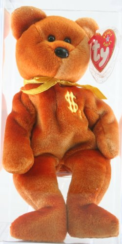 Ty Beanie Baby Billionaire 4 Bear, Autographed by Ty Warner, Ty Employee Excl...