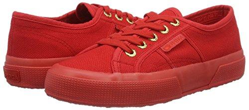 Sneaker Unisex top Classic Low Superga Red Adults' 2750 Cotu gold Op0wnxnqCF