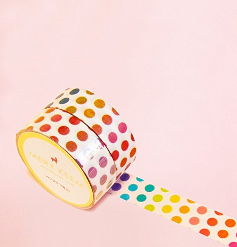 Colorful Polka Dots Washi Tape for Planning • Scrapbooking • Arts Crafts • Office • Party Supplies • Gift Wrapping • Colorful Decorative • Masking Tapes • DIY from MERYKEEM