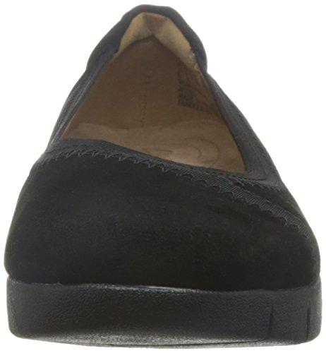 Clarks Détente Habillé Femme Chaussures Daelyn Hill En Daim Noir