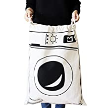 Large Laundry Basket Storage Toy Bag Dirty Clothes Canvas Storage Pouch