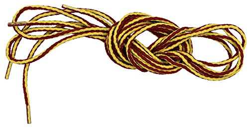 Ibungee Laces - G.H. Bass & Co Round Boot Laces, Gold & Brown, 54-Inch