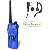 Baofeng UV-5R Upgrade Version Dual Band Two-Way Radio 136-174MHz VHF 400-520MHz UHF w/ 3800mAh Battery Handheld Transceiver (Blue)