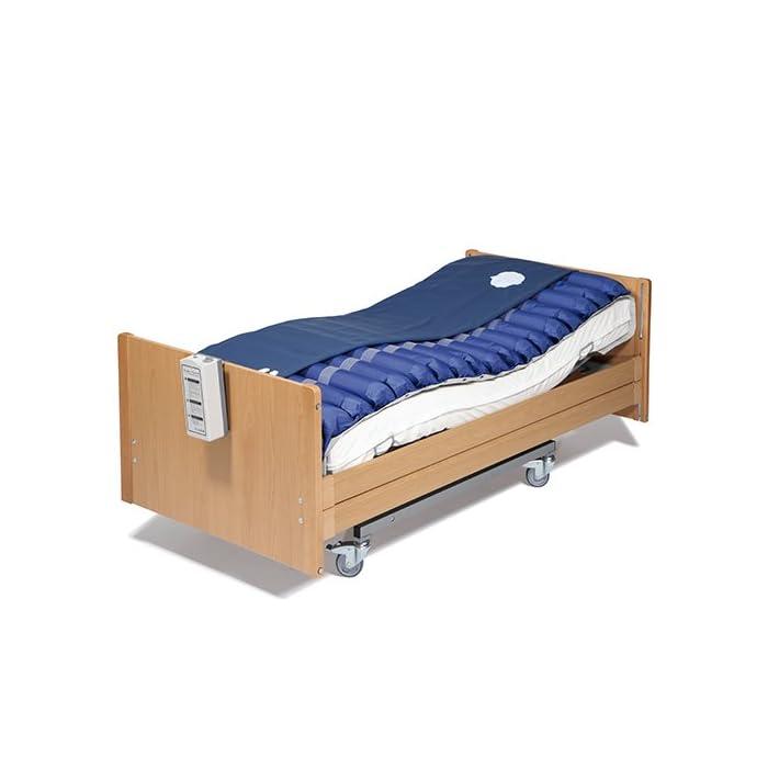41OiASZm7yL Este sistema previene y trata las úlceras por presión, gracias a la alternancia de las presiones que evita una compresión vascular prolongada y además puede utilizarse en tratamientos paliativos (del dolor) cuando esté prescrito por el médico.