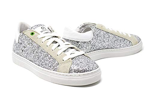 glitter Donna Argento Made Womsh Cloudy Sneakers Pelle In Snik Italy BzzwSqWF