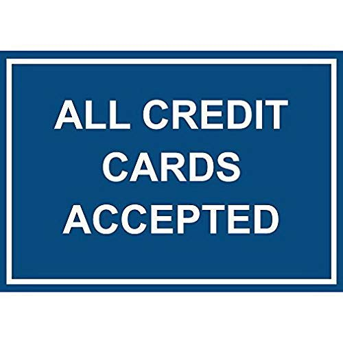 Jacksoney Tin Sign New Aluminum Metal All Credit Cards Accepted 11.8 x 7.8 Inch (Best Credit Cards For New College Grads)