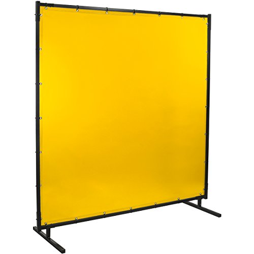 Steiner 534HD-4X5 Protect-O-Screen HD Welding Screen with Flame Retardant 14 Mil Tinted Transparent Vinyl Curtain, Yellow, 4' x 5'