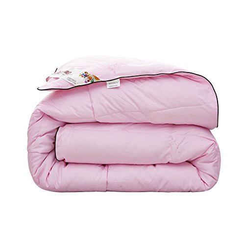 Natruety White Goose Down Alternative Comforter,Duvet Insert (twin, pink) (Twin Down Comforter Pink)