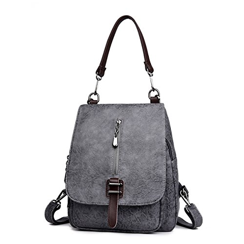 Women Leather Backpack Superior Backpacks for Lady Girl purple - 7