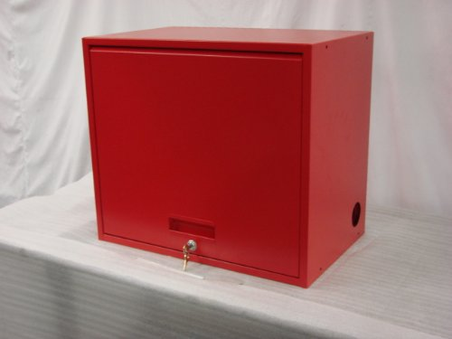 Equipto TBU-2 Single Door Upper Cabinet, 24'' Size, Textured Red by Equipto