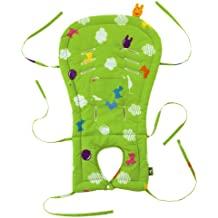 Showanishikawa Baby Car Seat and Stroller Liner with Rody Pattern (Green)