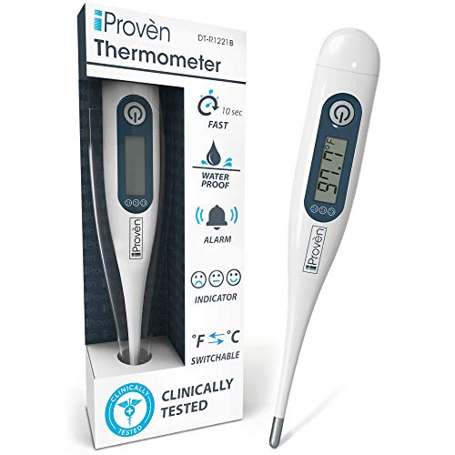 Best Digital Medical Thermometer (Baby and Adult Termometro), Accurate and Fast Readings - Oral and Rectal Thermometer for Children Babies - DT-R1221B with Fever Indicator - 2019 High Quality