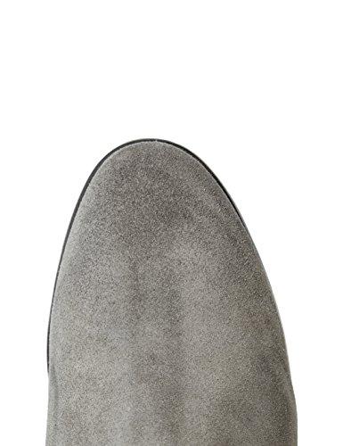 FIND Botines de Ante Estilo Vaquero para Mujer Gris (Grey)