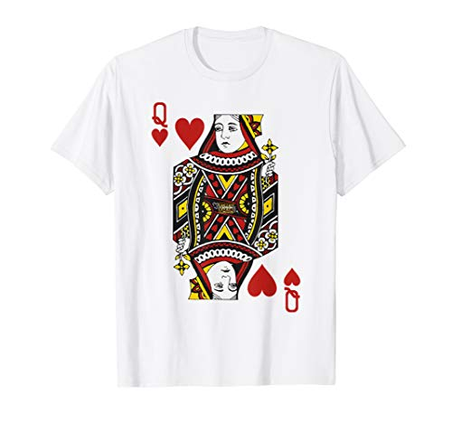 Queen of Hearts Playing Card Poker Card Costume Gift Shirt -