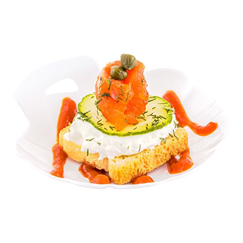 - 3.3-inch Shell Appetizer Plate: White Plastic Plate - Perfect for Serving Amuse Bouche and Hors d'oeuvres – Disposable and Recyclable – 100-CT – Restaurantware