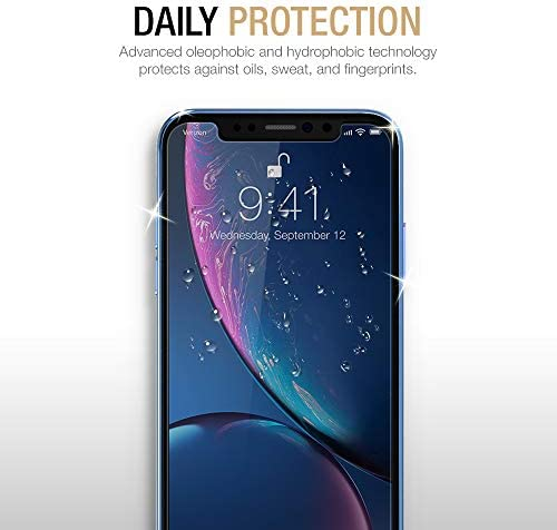 "uShield Privacy Screen Protector Compatible with Apple iPhone XR and iPhone 11 (6.1"" Display) (w/Installation Frame) [Anti-Scratch/Spy] Tempered Glass Screen Protector (3Pack) [Fit with Most Cases]"
