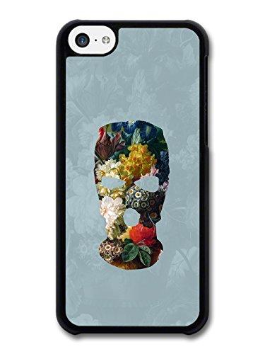 Balaclava Illustration on Flower Painting Goth Grunge case for iPhone 5C