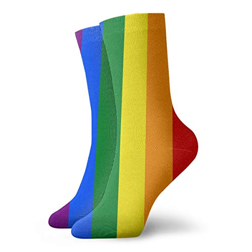 Casual Crew Socks Gay Pride Flag Rainbow Ankle Socks Short Dress Compression Socks For Women Men -