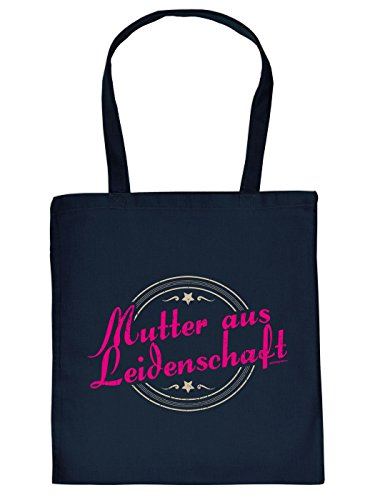 Stofftasche - Mutter aus Leidenschaft - lustig bedruckte Umhängetasche für die Mutter mit Humor - Tasche Henkeltasche mit witzigem Spruch m7TjO2z