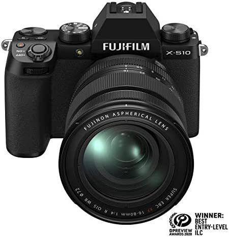 Fujifilm X-S10 Mirrorless Digital Camera XF16-80mm Lens Kit - Black