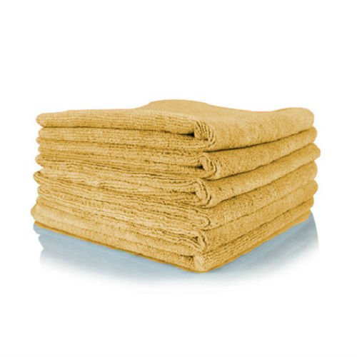 GHP 240-Pcs 16''x16'' 300 GSM Gold Absorbent Microfiber Plush Cleaning Towels by Globe House Products