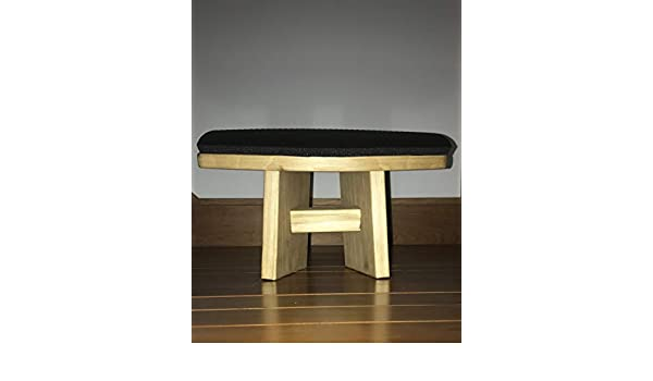 Awesome Canadian Pine Kneeling Stool Prayer Prasada By Divya Andrewgaddart Wooden Chair Designs For Living Room Andrewgaddartcom