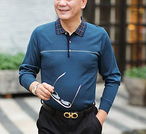 Uomo Tinta Polo shirt Business Unita Ck82blu T Gladiolusa Maglione Padre yYbf6v7g