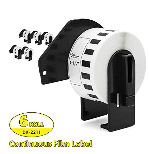 Label Orison- DK-2211 Black on White Film Label Continuous Labels 1.1
