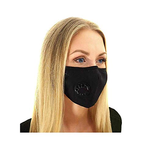 Air Pollution Mask for Dust, Smoke, Odors with N99 Filters. Adjustable Ear Straps and Nose Bridge - Washable and Reusable Comfy Cotton Respirator Face Mouth Mask